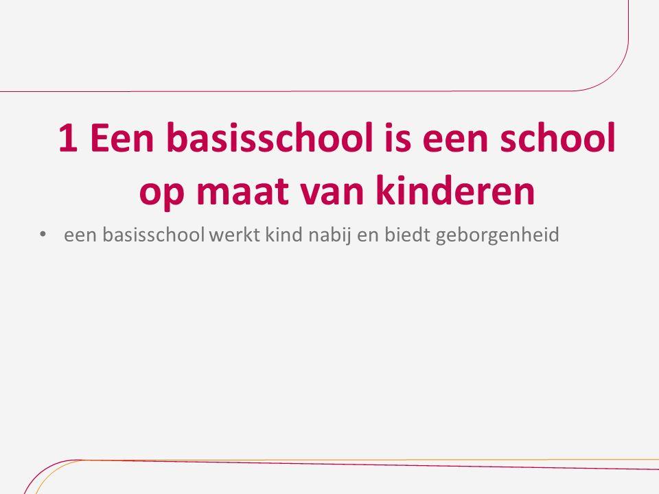 1 Een basisschool is een school op maat van kinderen een basisschool werkt kind nabij en biedt geborgenheid