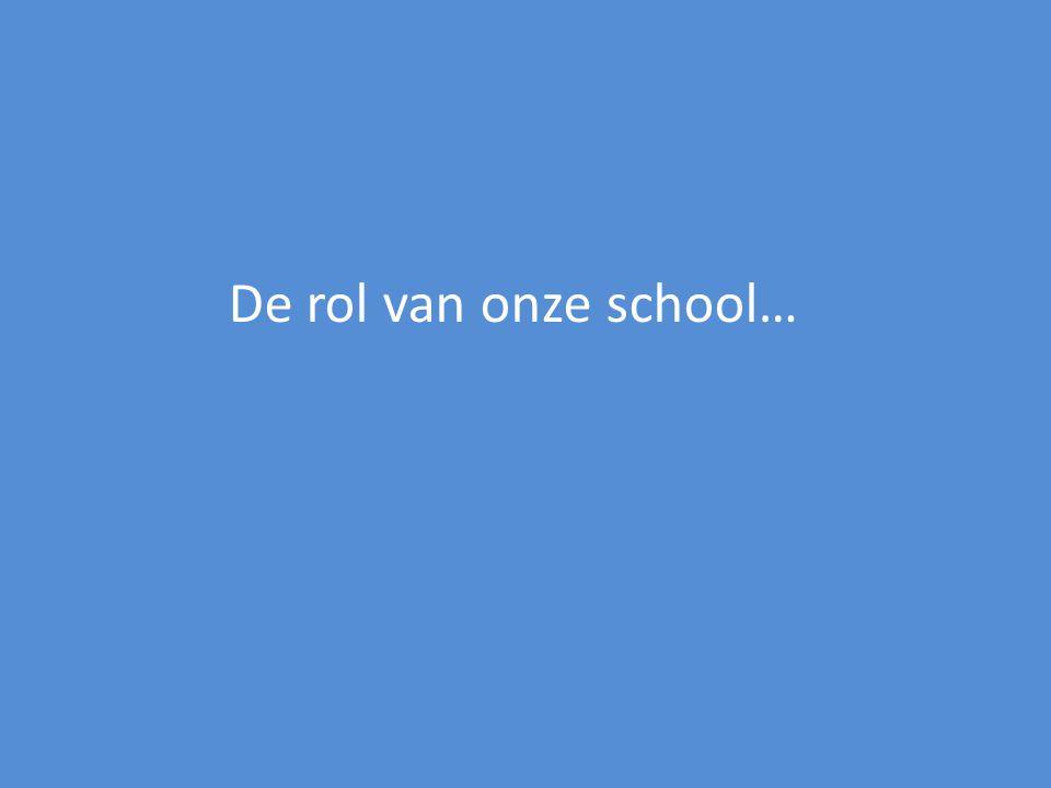 De rol van onze school…
