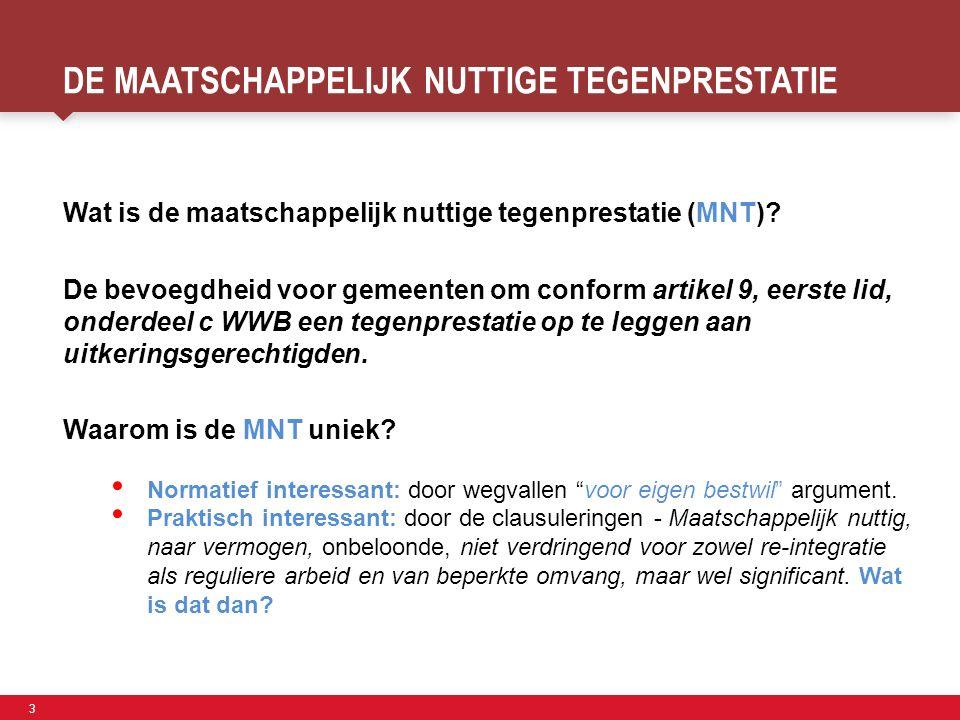 3 Faculteit der Sociale Wetenschappen DE MAATSCHAPPELIJK NUTTIGE TEGENPRESTATIE Wat is de maatschappelijk nuttige tegenprestatie (MNT)? De bevoegdheid