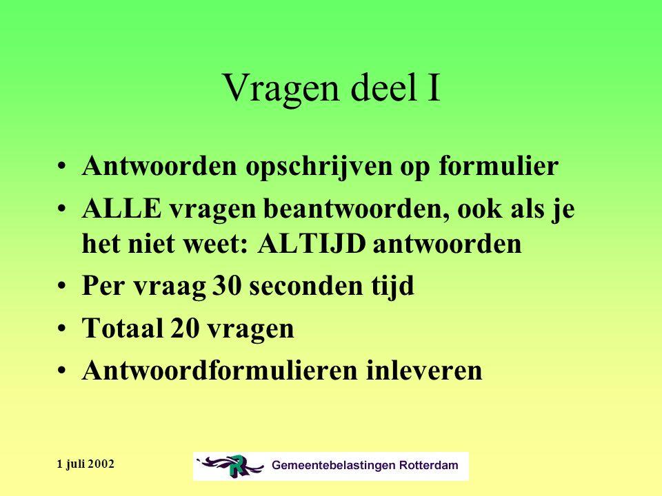 1 juli 2002 Algemeen Hoe is het huidige kennisniveau van de medewerkers PuZa als het gaat om de klantcontacten.