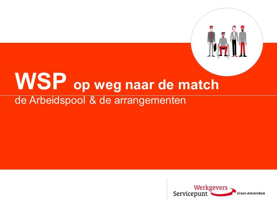 WSP op weg naar de match de Arbeidspool & de arrangementen