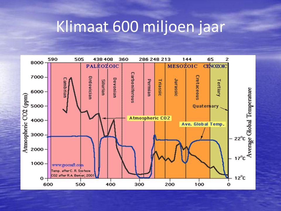 Klimaat 600 miljoen jaar