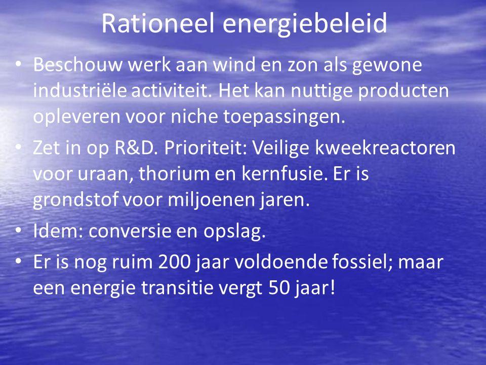 Rationeel energiebeleid Beschouw werk aan wind en zon als gewone industriële activiteit.