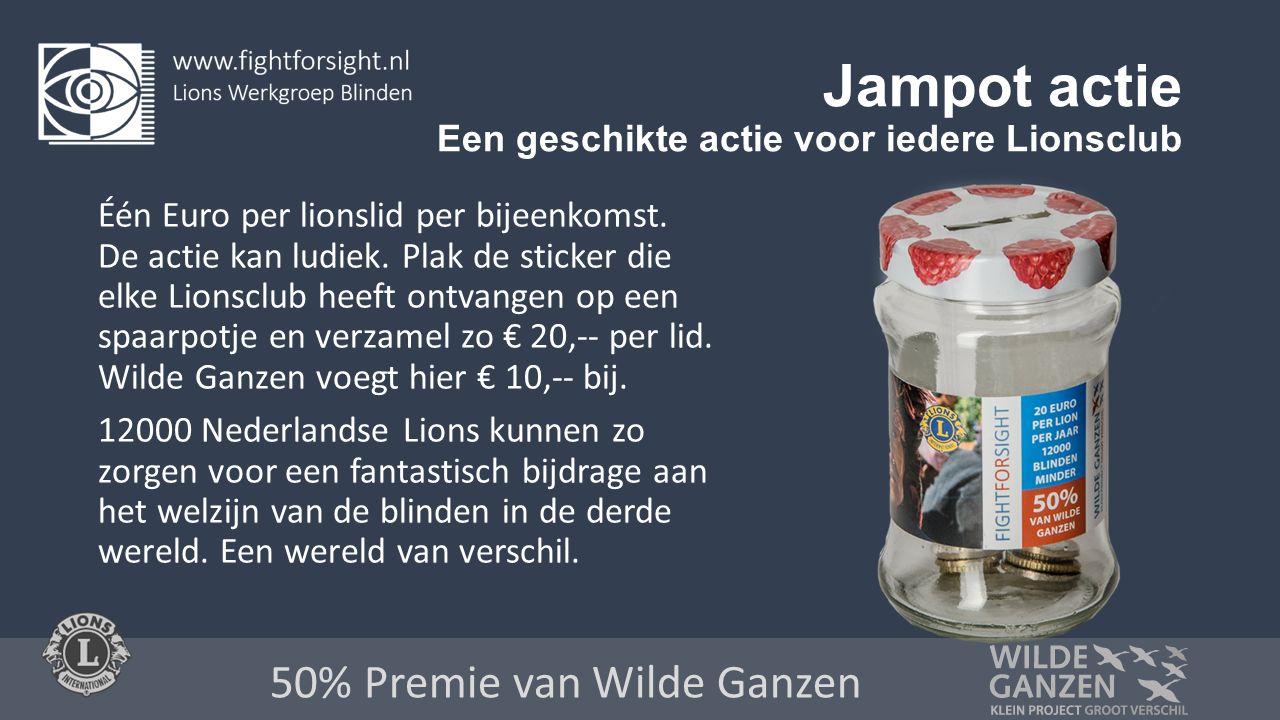 Jampot actie Een geschikte actie voor iedere Lionsclub Één Euro per lionslid per bijeenkomst.