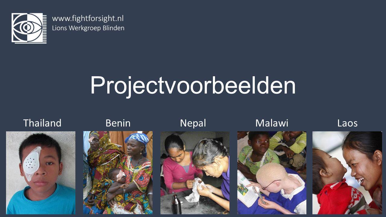Projectvoorbeelden ThailandBeninNepalMalawiLaos