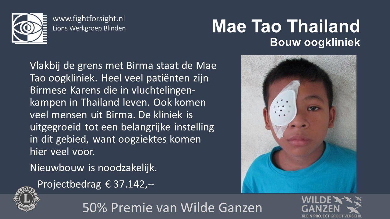 Mae Tao Thailand Bouw oogkliniek Vlakbij de grens met Birma staat de Mae Tao oogkliniek.
