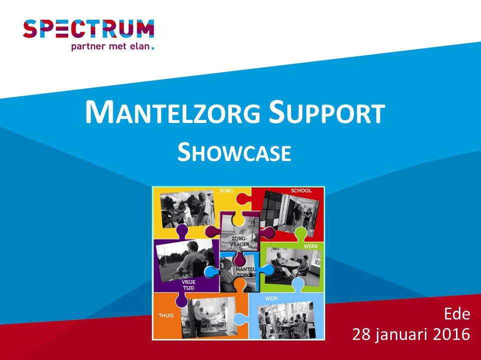 M ANTELZORG S UPPORT S HOWCASE Ede 28 januari 2016