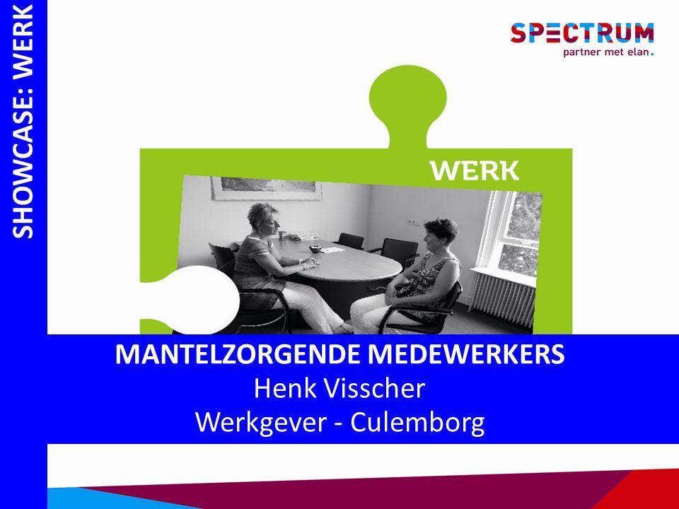 SHOWCASE: WERK MANTELZORGENDE MEDEWERKERS Henk Visscher Werkgever - Culemborg
