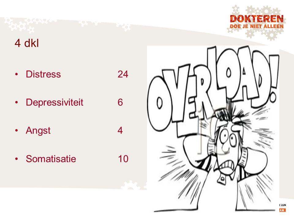 4 dkl Distress24 Depressiviteit6 Angst4 Somatisatie10