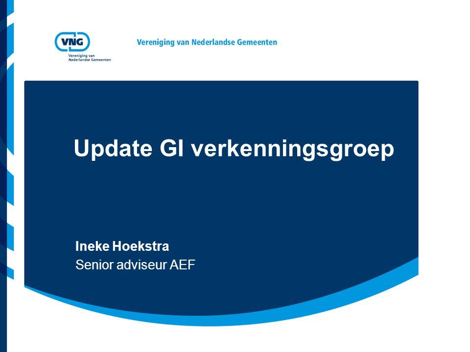 Update GI verkenningsgroep Ineke Hoekstra Senior adviseur AEF