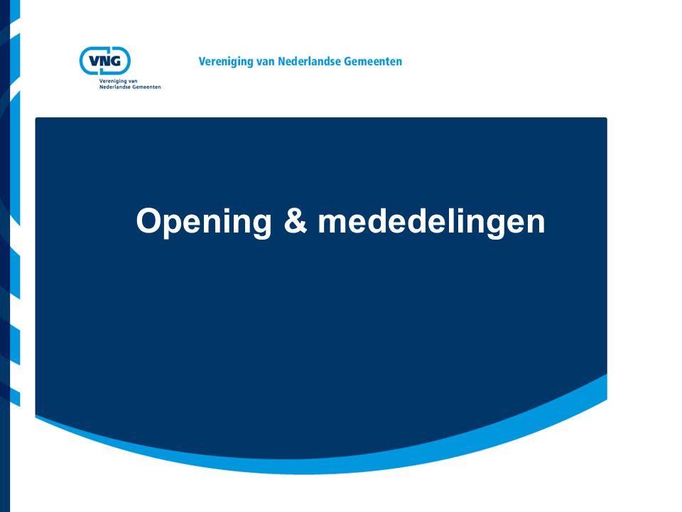 Opening & mededelingen