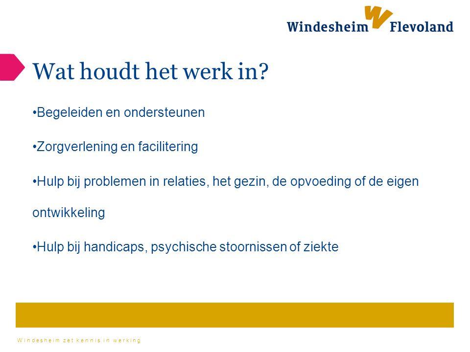 Windesheim zet kennis in werking Wat houdt het werk in.