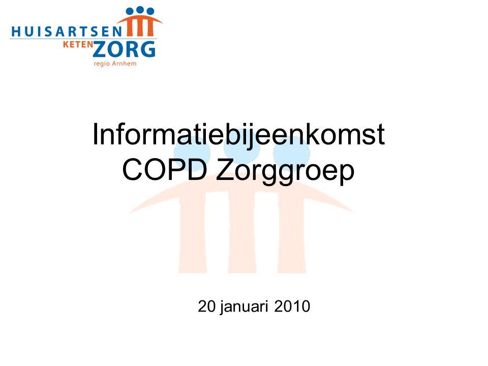 Informatiebijeenkomst COPD Zorggroep 20 januari 2010