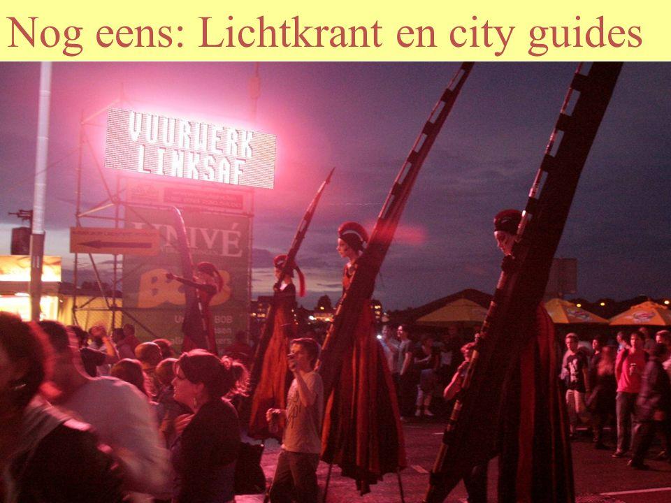Lichtkranten, exit banners en city guides
