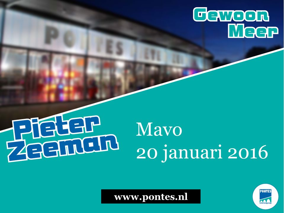 Mavo 20 januari 2016 www.pontes.nl