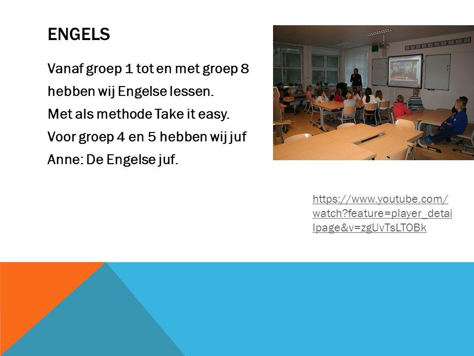 ENGELS Vanaf groep 1 tot en met groep 8 hebben wij Engelse lessen.