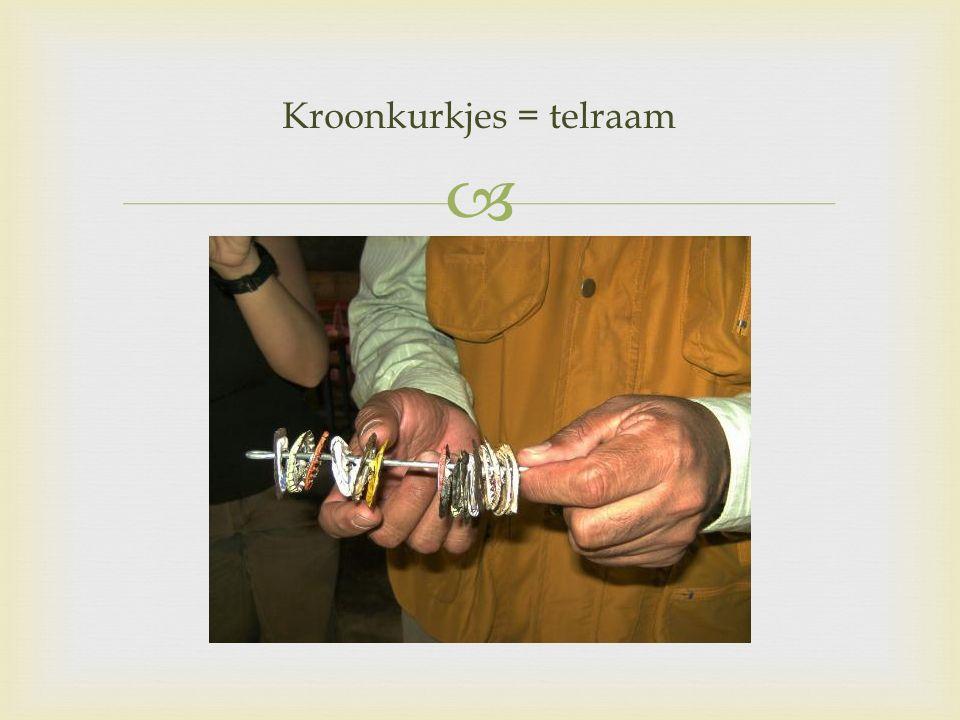  Kroonkurkjes = telraam