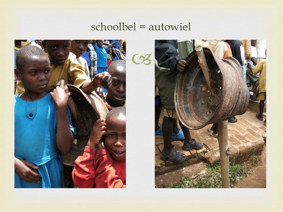  schoolbel = autowiel