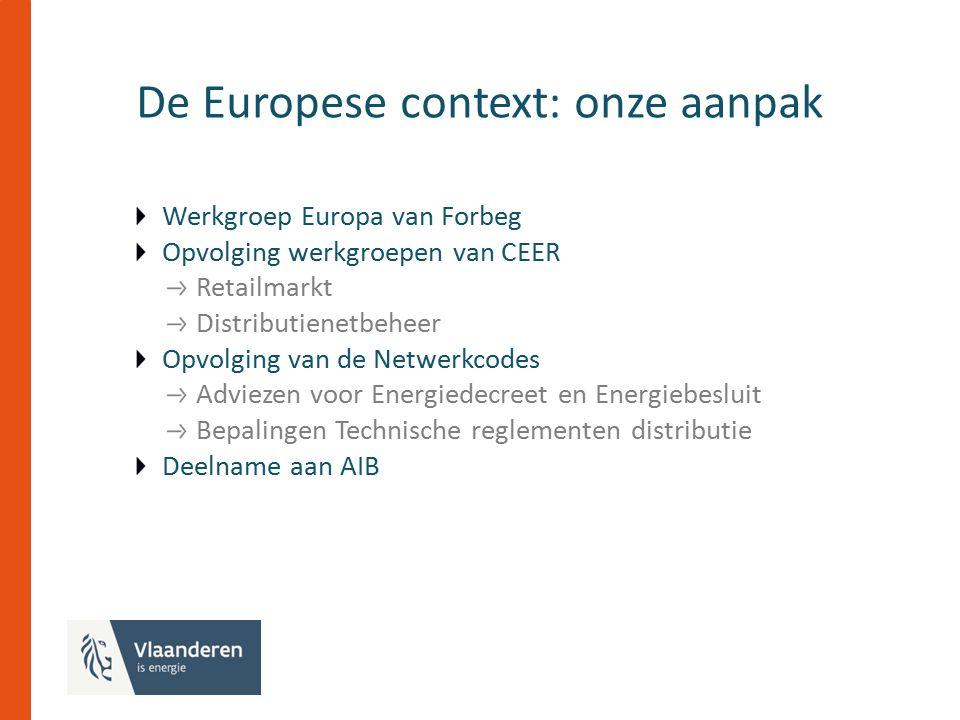 De Belgische context Beleidsakkoord over de intra-Belgische burden sharing Besprekingen over conversie van aardgasnetten Energiepact?