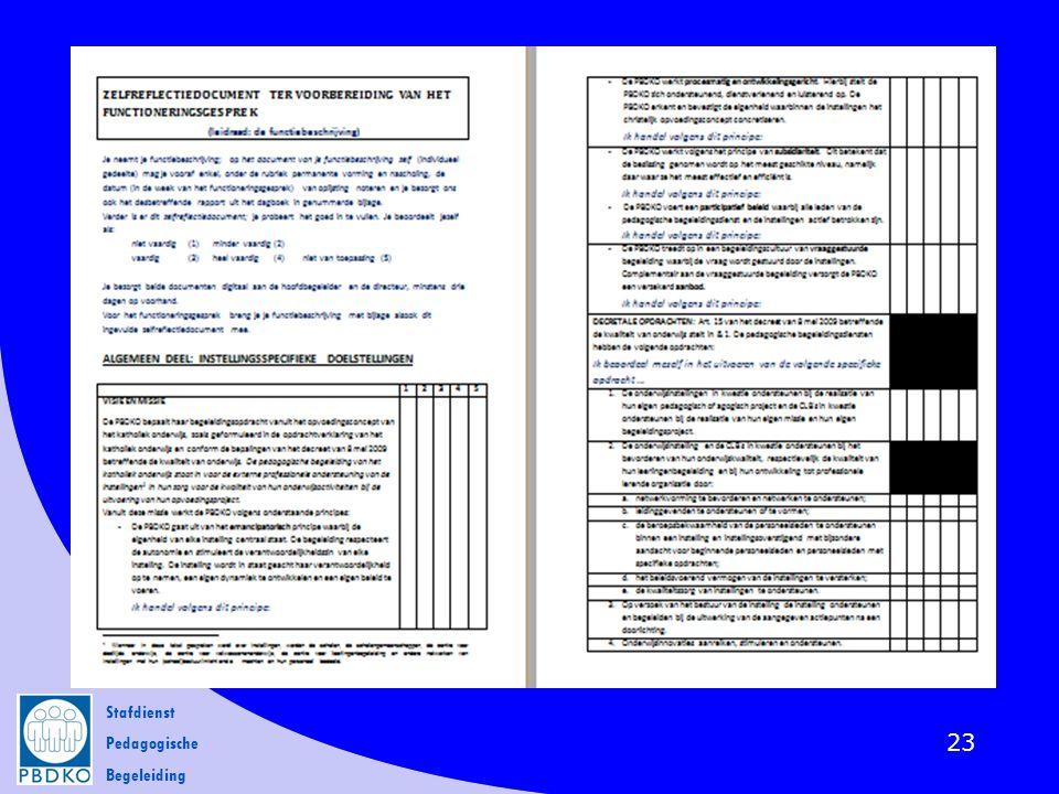 Stafdienst Pedagogische Begeleiding 23