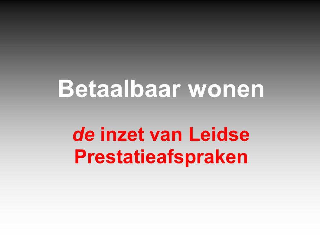 Cijfers WoOn 2012 Woningmarktgebied Leiden