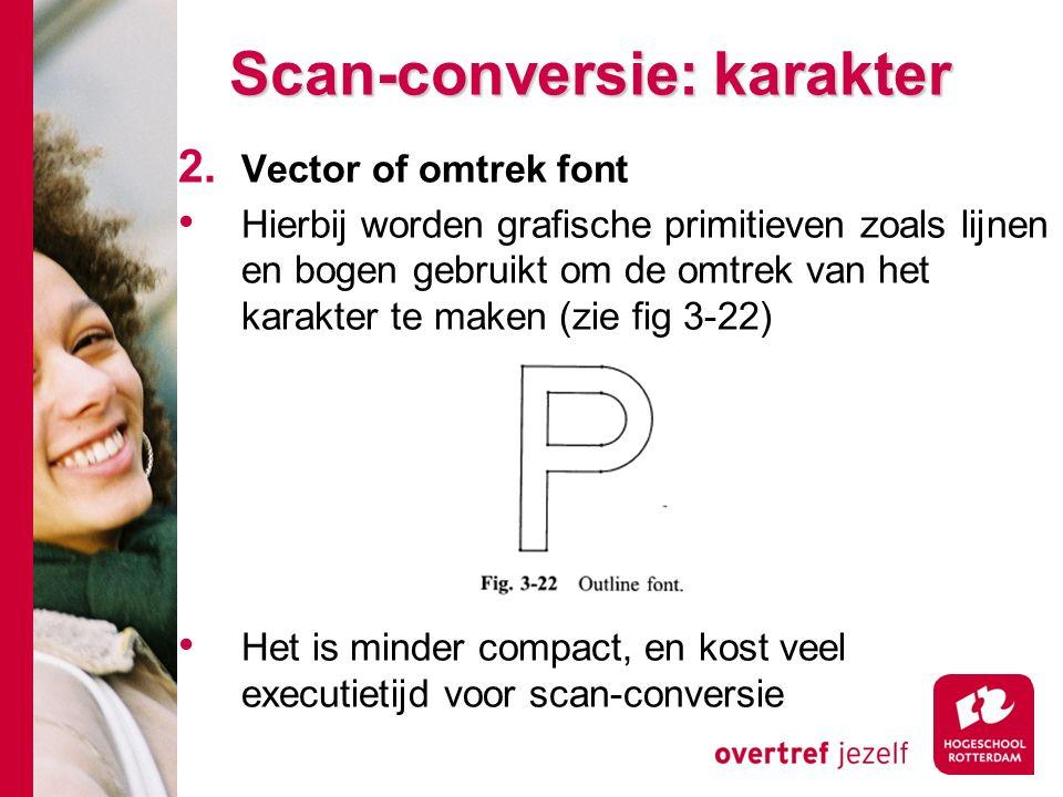 Scan-conversie: karakter 2.
