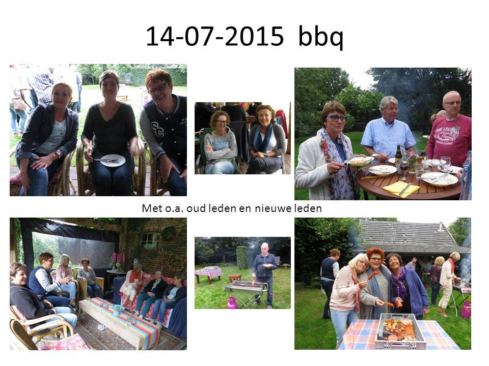 14-07-2015 bbq Met o.a. oud leden en nieuwe leden
