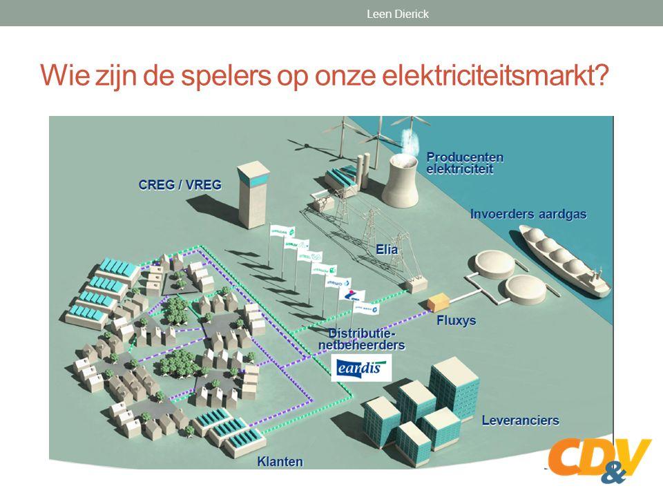 Wie zijn de spelers op onze elektriciteitsmarkt Leen Dierick