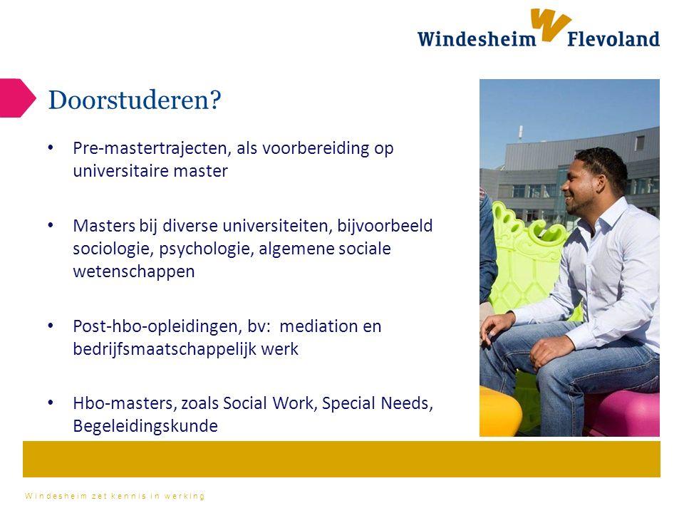Windesheim zet kennis in werking Doorstuderen.