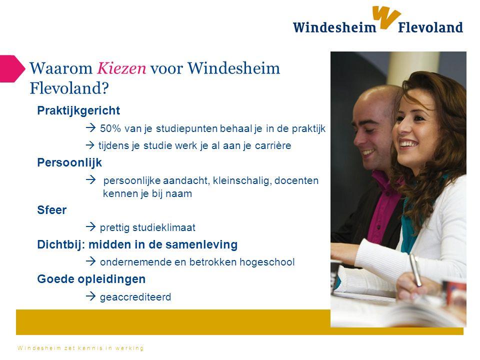 Windesheim zet kennis in werking Windesheim in de prijzen.
