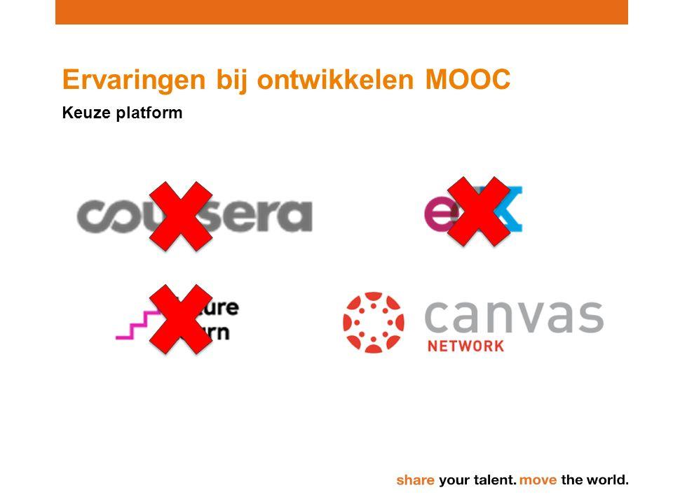Ervaringen bij ontwikkelen MOOC Keuze platform