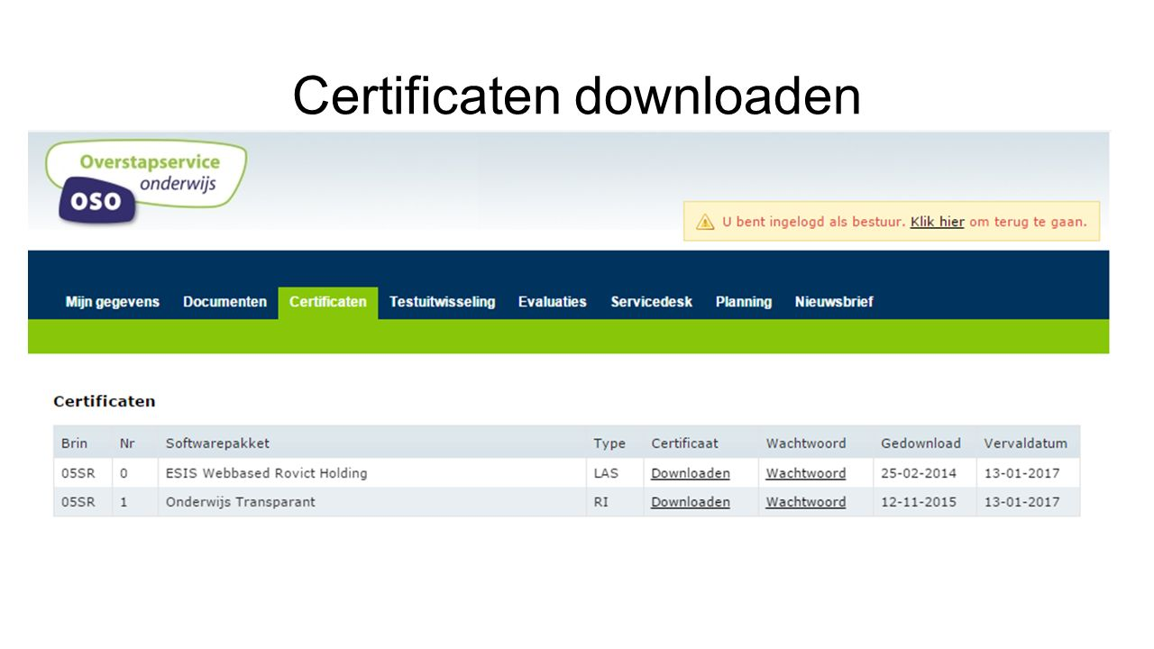 Certificaten downloaden