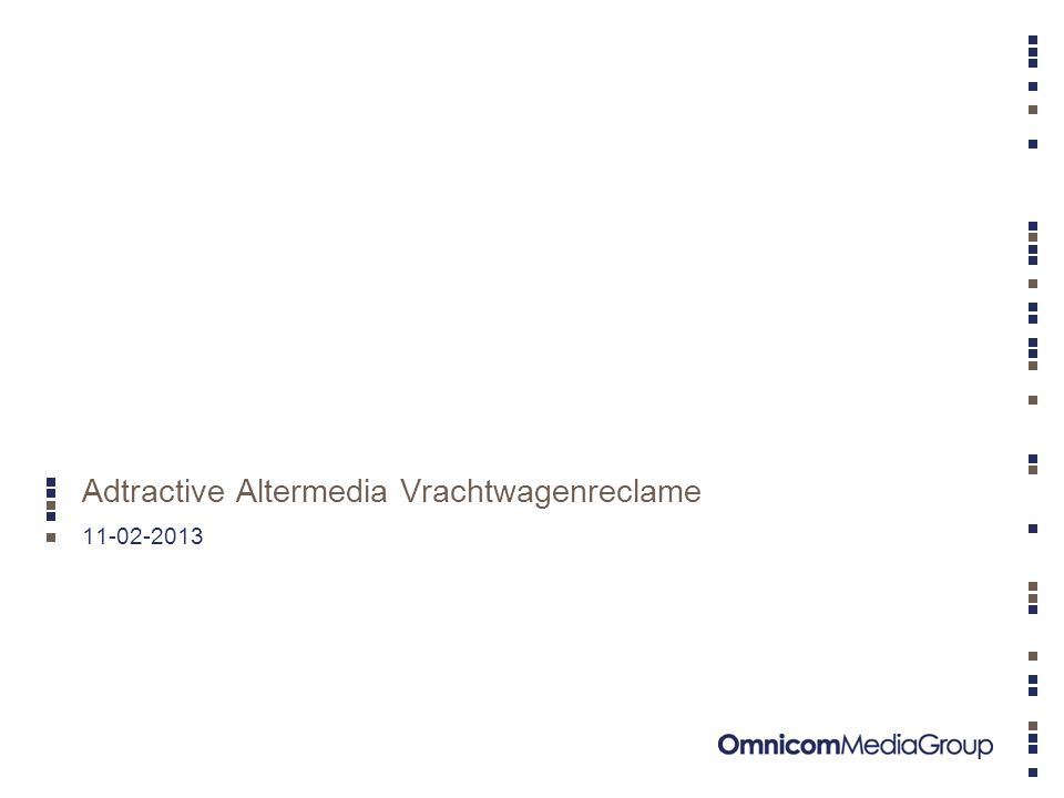 Adtractive - Altermedia 2 –Altermedia is exploitant van Vrachtwagenreclame.