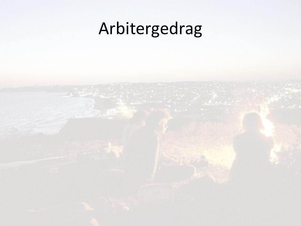 Arbitergedrag