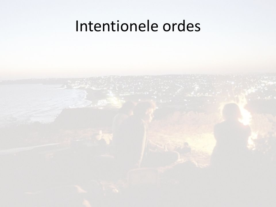 Intentionele ordes