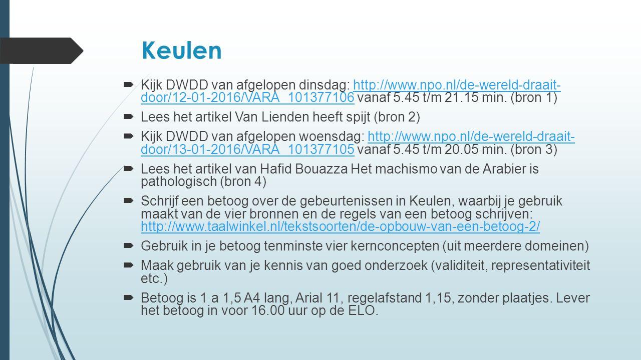 Keulen  Kijk DWDD van afgelopen dinsdag: http://www.npo.nl/de-wereld-draait- door/12-01-2016/VARA_101377106 vanaf 5.45 t/m 21.15 min.