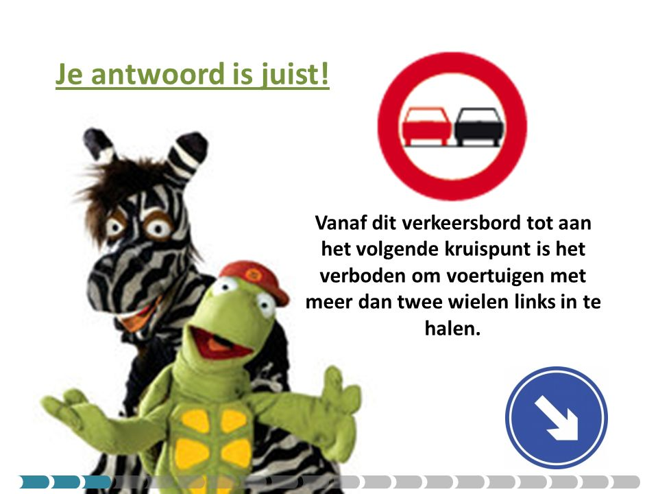 Je antwoord is fout