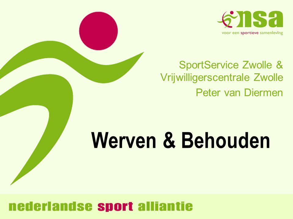 Werven & Behouden SportService Zwolle & Vrijwilligerscentrale Zwolle Peter van Diermen
