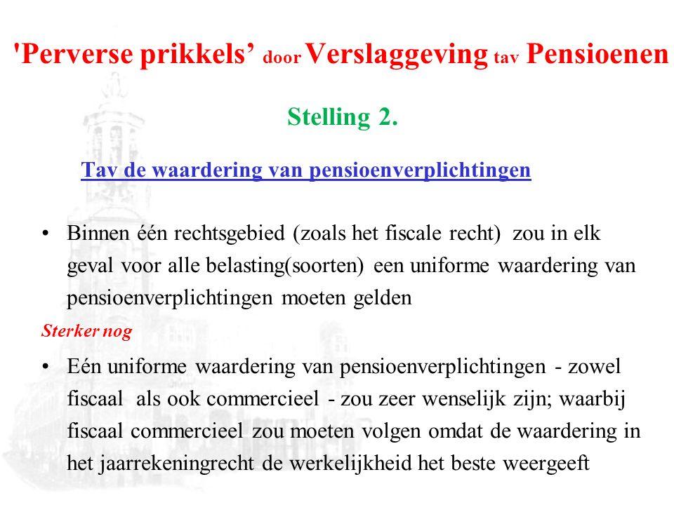 Perverse prikkels' door Verslaggeving tav Pensioenen Stelling 2.