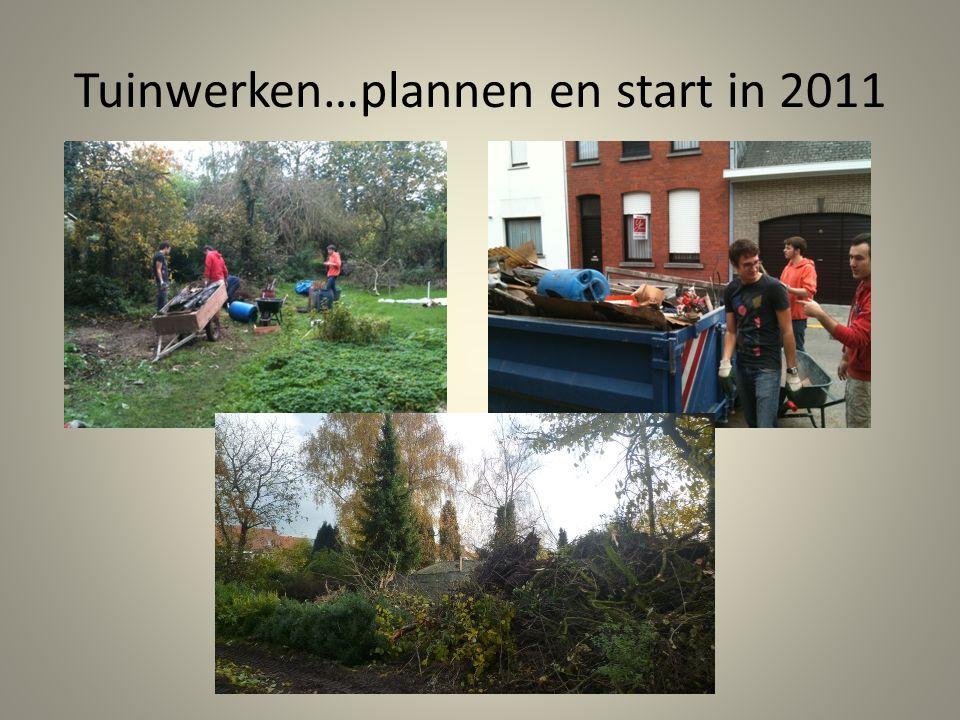 Tuinwerken…plannen en start in 2011