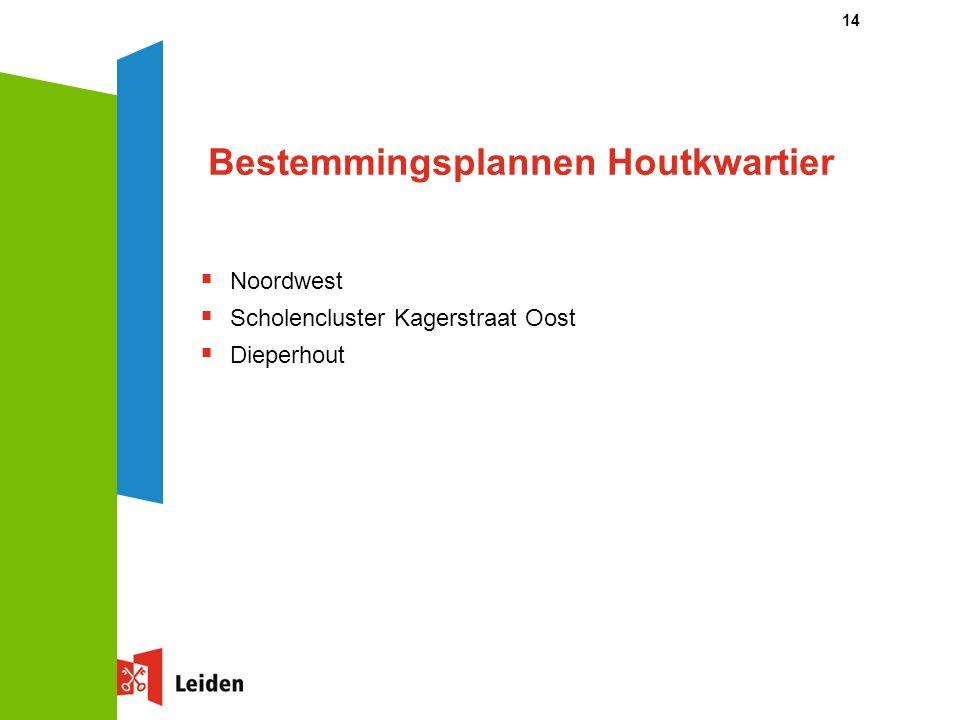 14 Bestemmingsplannen Houtkwartier  Noordwest  Scholencluster Kagerstraat Oost  Dieperhout