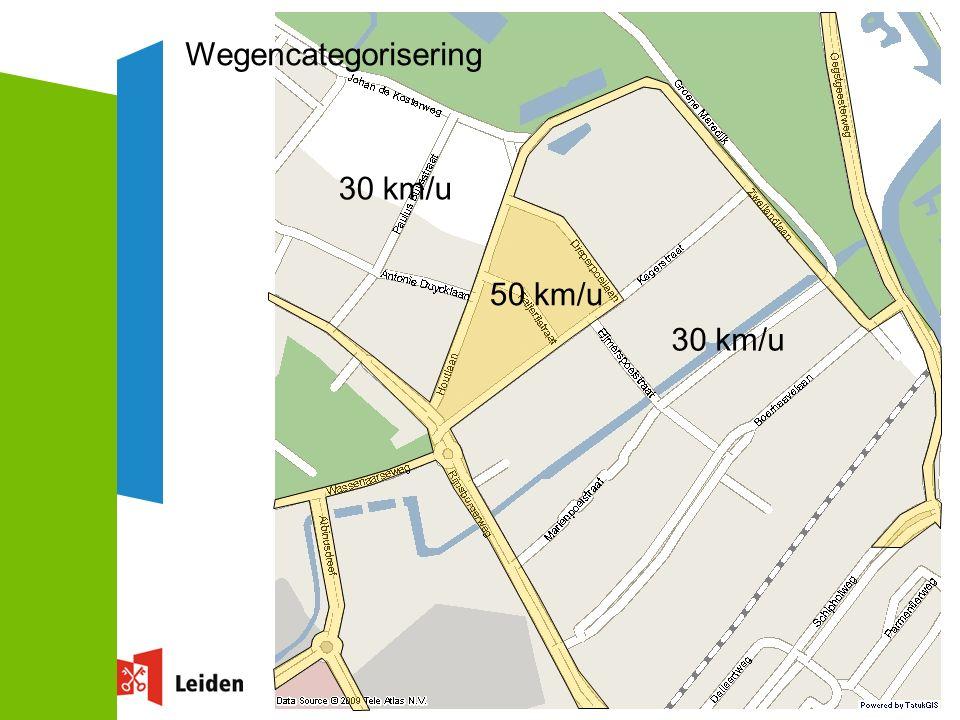 36 50 km/u 30 km/u Wegencategorisering