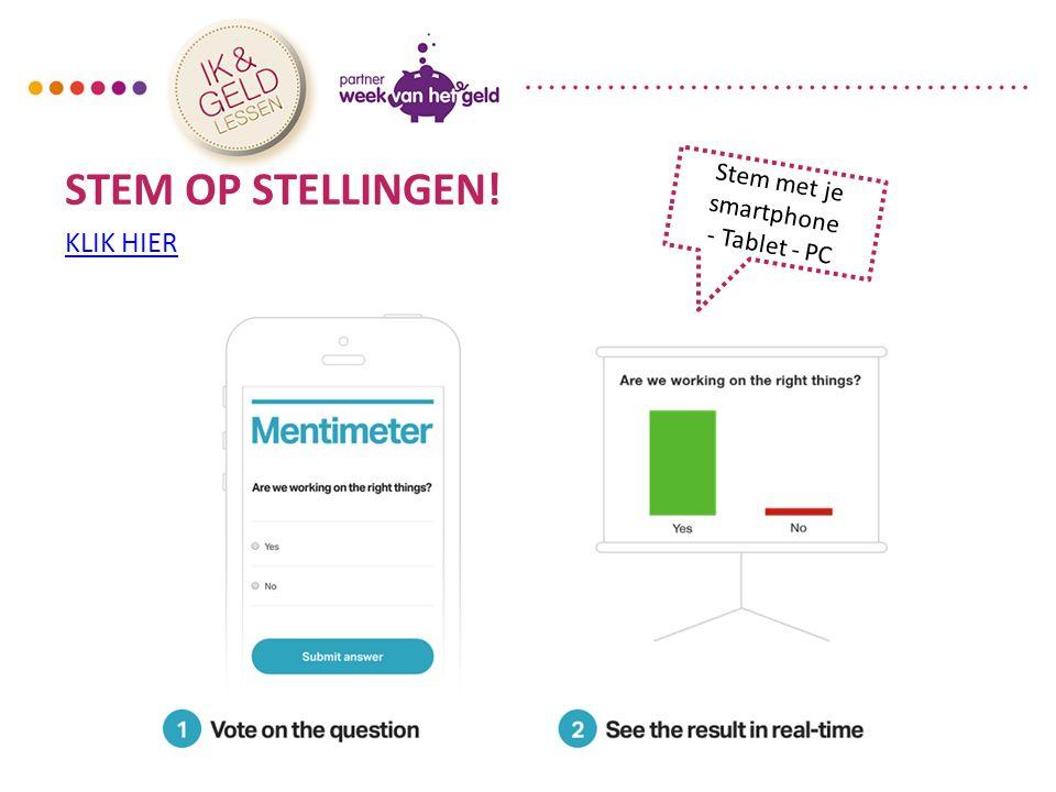 Achtergrondinformatie Gastdocent - Mentimeter Module 1: Mijn levensstijl9 U ziet: Leerlingen gaan naar de website www.govote.atwww.govote.at en toetsen de code in.