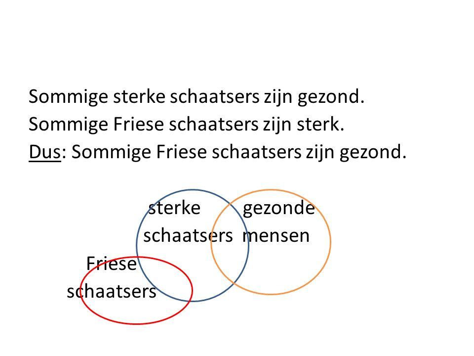 Sommige sterke schaatsers zijn gezond. Sommige Friese schaatsers zijn sterk.
