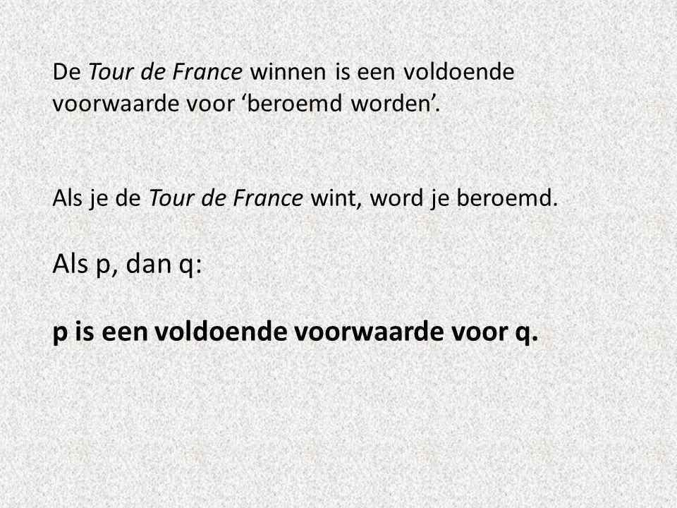 De Tour de France winnen is een voldoende voorwaarde voor 'beroemd worden'.