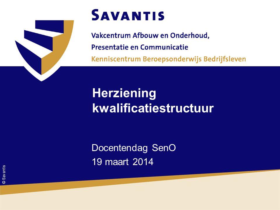 © Savantis Herziening kwalificatiestructuur Docentendag SenO 19 maart 2014