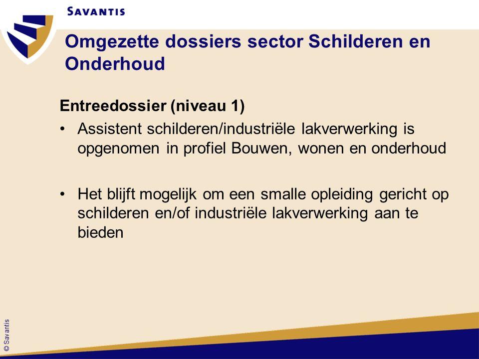 © Savantis Entreedossier (niveau 1) Basisdeel keuzedeel 1 1 2 2 3 3 8 8 7 7 6 6 5 5 Bouwen, Wonen en Onder- houd 9 9