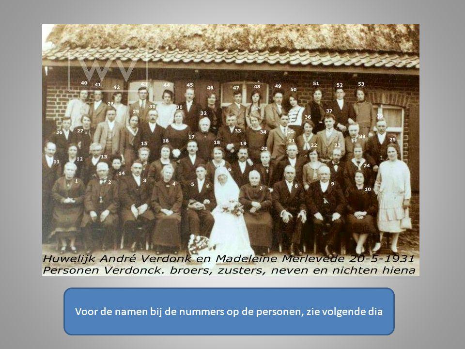 Michel Alidore Cornelis Vervisch Boezinge 2-8-1922 Elverdinge 10-8-2002 huwelijk Reningelst 20-11-1947 met Irma Maria Antonia Cornelia Spenninck Reningelst 29-8-1927 Zuidschote 3-1-1990 In de volgende dia op oudere leeftijd.