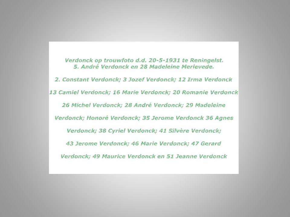 Voor de namen bij de nummers op de personen, zie volgende dia