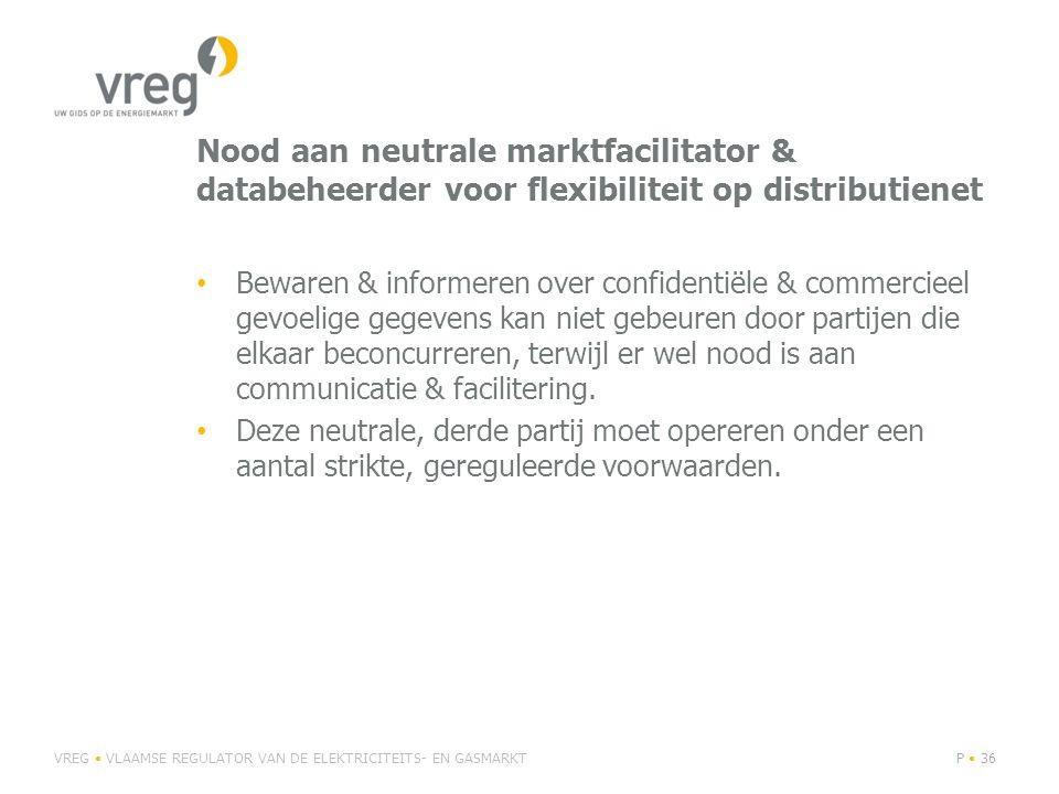 Nood aan neutrale marktfacilitator & databeheerder voor flexibiliteit op distributienet Bewaren & informeren over confidentiële & commercieel gevoelig